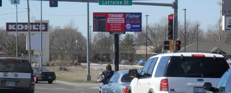 Static Billboard Signage available at 17th & Lorraine (east face) in Hutchinson, KS