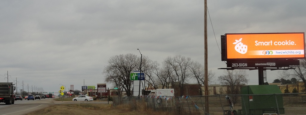 Static Billboard Signage available at Kellogg & Andover Rd (West Face) in Andover, KS