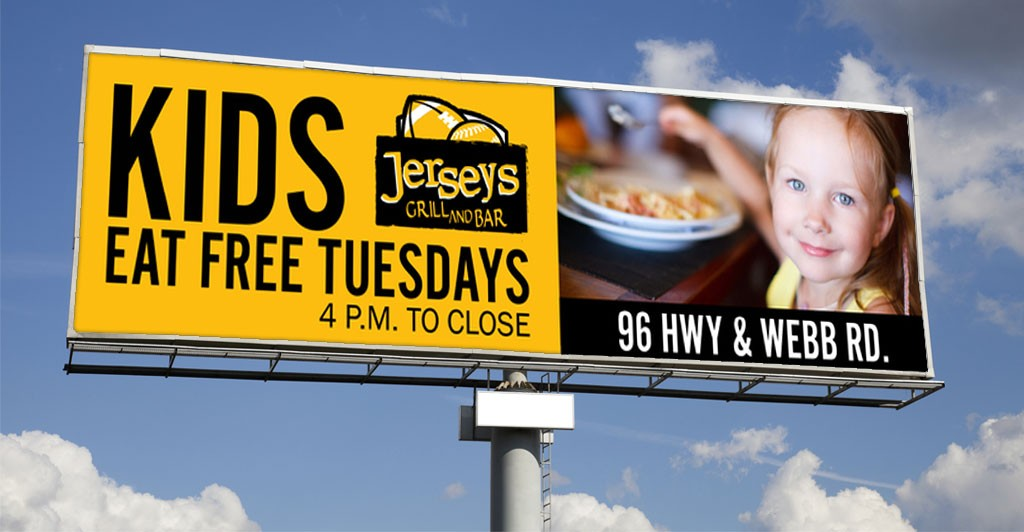 Jerseys Grill and Bar Digital Outdoor Advertising in Wichita